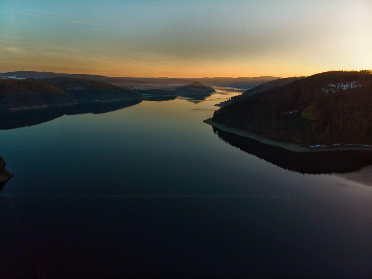 Orlická přehrada - kemp Trhovky